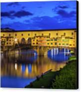 Notte A Ponte Vecchio Canvas Print