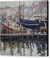 Nova Scotia Boats At Rest Canvas Print