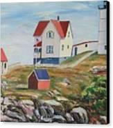 Nubble Light House Maine Canvas Print