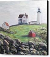 Nubble Light House Canvas Print