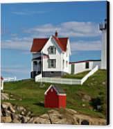 Nubble Lighthouse - D002365 Canvas Print by Daniel Dempster