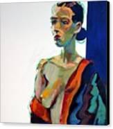 Nude-j Canvas Print by Piotr Antonow