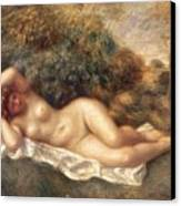 Nude Canvas Print by Pierre Auguste Renoir