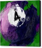 Number Four Billiards Ball Abstract Canvas Print