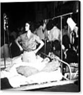 Nurse Adjusts Glucose Injection Canvas Print by Stocktrek Images