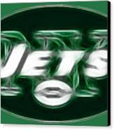 Ny Jets Fantasy Canvas Print by Paul Ward