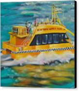Ny Water Taxi Canvas Print by Milagros Palmieri