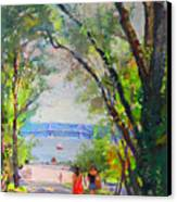 Nyack Park A Beautiful Day For A Walk Canvas Print by Ylli Haruni
