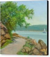 Nyack Trail Along The Hudson Canvas Print