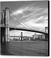 Nyc Brooklyn Bridge Canvas Print by Mike McGlothlen