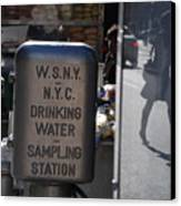 Nyc Drinking Water Canvas Print
