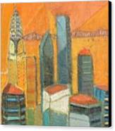 Nyc In Orange Canvas Print