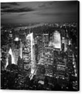 Nyc Times Square Canvas Print by Nina Papiorek