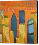 Nyc With Chrysler Canvas Print