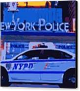 Nypd Color 16 Canvas Print by Scott Kelley