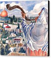O Jerusalem Canvas Print by Barbara Jung