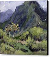 Oahu Valley Canvas Print by L Diane Johnson