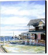 Oak Bluffs Winter Canvas Print by Paul Gardner
