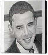 Obama Canvas Print by Felipe Galindo