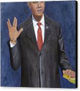 Obama Taking The Oath Of Office Canvas Print by TC North