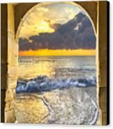 Ocean View Canvas Print by Debra and Dave Vanderlaan