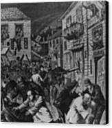 October 31, 1880 Anti-chinese Riot Canvas Print