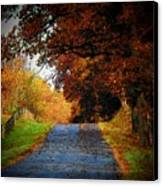 October Road Canvas Print by Joyce Kimble Smith