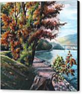 October Visiting Stanley Park Bc Canvas Print