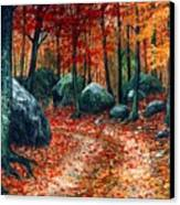 October Woodland Canvas Print
