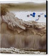 Oil-covered White Sands Of Orange Beach Canvas Print