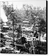 Oil: Pennsylvania, 1863 Canvas Print