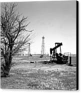 Oklahoma Oil Field Canvas Print by Larry Keahey