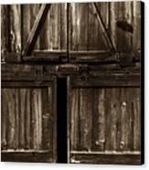 Old Barn Door - Toned Canvas Print