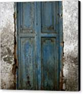 Old Blue Door Canvas Print by Shane Rees