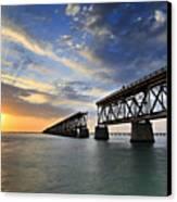 Old Bridge Sunset Canvas Print by Eyzen M Kim