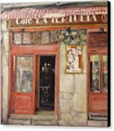 Old Cafe- Santander Spain Canvas Print by Tomas Castano