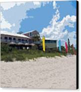 Old Casino On An Atlantic Ocean Beach In Florida Canvas Print by Allan  Hughes