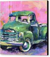 Old Chevy Chevrolet Pickup Truck On A Street Canvas Print