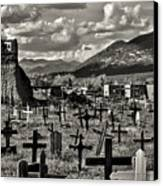 Old Church Taos Pueblo Canvas Print by Lou  Novick