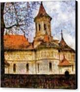 Old Church With Red Roof Canvas Print by Jeff Kolker