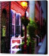Old City Streets - Elfreth's Alley Canvas Print by Bill Cannon