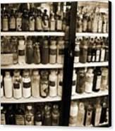 Old Drug Store Goods Canvas Print