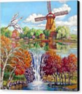 Old Dutch Windmill Canvas Print