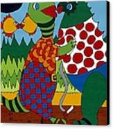 Old Folks Dancing Canvas Print by Rojax Art