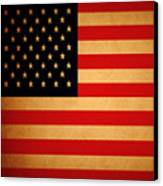Old Glory . Square Canvas Print by Wingsdomain Art and Photography