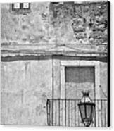 Old House In Taormina Sicily Canvas Print by Silvia Ganora