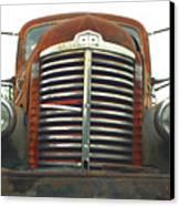 Old International Gravel Truck Canvas Print by Randy Harris