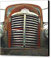 Old International Gravel Truck Canvas Print by Randy Harris