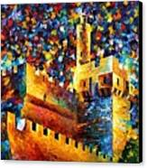 Old Jerusalem Canvas Print by Leonid Afremov