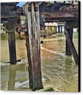 Old Jetty Canvas Print by Jan Hattingh